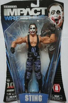TNA Wrestling Deluxe Impact Series 8 Action Figure Joker Sting by Jakks. $13.99. Total Nonstop Action (TNA) Wrestling is the newest professional wrestling league, and their flagship show, TNA Impact!, airs on Fox SportsNet. Fans of this high-octane, high-impact franchise can now collect their favorite wrestlers with the TNA! Impact Deluxe Action Figures. These figures have detailed sculpts and dynamic poses, and they're just itching for a fight! Blister card packaging.