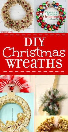 These 20 DIY Christmas Wreaths will brighten your holiday spirit and greet your guests at the door! Love DIY Christmas decorations, especially Christmas wreaths! All Things Christmas, Christmas Holidays, Christmas Wreaths, Christmas Decorations, Christmas Ideas, Christmas Recipes, Christmas Windows, Winter Wreaths, Burlap Christmas