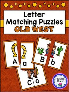 Letter Matching Puzzles - Old West {Uppercase and Lowercase Letters} ($)