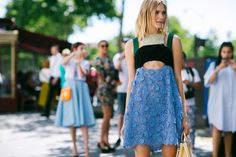 Street style at couture week Hunter Street, Garance, Lauren Hutton, Street Snap, California Dreamin', Couture Week, Get Dressed, What To Wear, Sequin Skirt