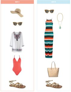 Ten Day Summer Vacation Packing List and Outfits