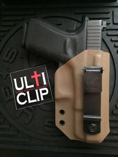Ulticlip on a kydex IWB holster for G19.  Super comfortable. Easy on easy off...