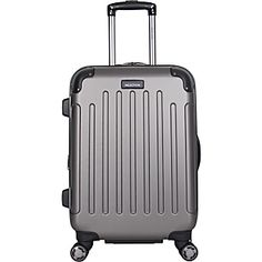 555fac433 Kenneth Cole Reaction 'Renegade' Lightweight Hardside ABS Expandable Spinner  Carry On Suitcase - Multiple Colors (Metallic Silver)