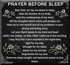 """Prayer Before Sleep"""