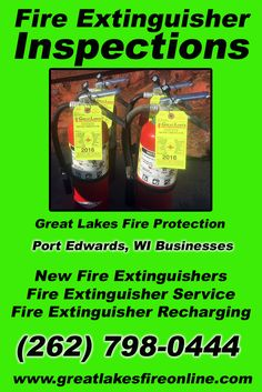 Fire Extinguisher Inspections Port Edwards, WI (262) 798-0444 Check out Great Lakes Fire Protection.. The Complete Source for Fire Protection in Wisconsin. Call us Today!