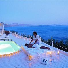 Katikies Hotel-Santorini (Greece) Oh, pleeeeze, may I go there?!