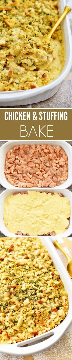 My Mom made this recipe for years and now I do as well for my family. They love it! Stuffing Mix, Chicken Stuffing, Cream Of Chicken Soup, Stove Top Chicken, Chicken Breasts, 1 Cup, Macaroni And Cheese, Casserole, Baking Recipes