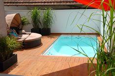 Piscina bonita: pool of future pool gmbh - Architecture - Piscinas Small Backyard Design, Backyard Sheds, Small Backyard Landscaping, Pool Backyard, Mini Pool, Swimming Pool Designs, Swimming Pools, Pool Pool, Shark Pool