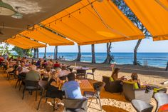The only toes-in-the-sand dining on Kauai is at Lava Lava Beach Club. Daniel Lave photo.