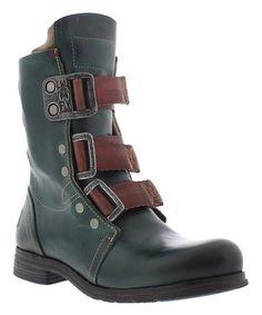 Petrol Stif Kraft Leather Boot #zulily #zulilyfinds