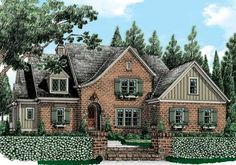 Graystone Park (c) - Home Plans and House Plans by Frank Betz Associates