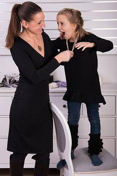 Čierna tunika s volánom pre malú elegantnú dámu #detskamoda#jedinecnesaty#handmade#originalne#slovakia#slovenskydizajn#móda#šaty#original#fashion#dress#modre#ornamental#stripe#dresses#vyrobenenaslovensku#children#fashion#rucnemalovane Malu, Cold Shoulder Dress, Dresses With Sleeves, Blouse, Long Sleeve, Tops, Women, Fashion, Tunic