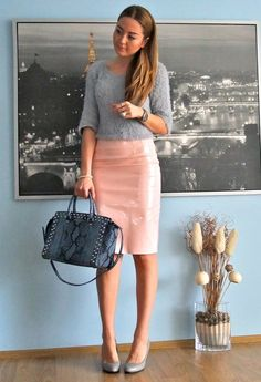 BLUSH  , OMG Fashion in Skirts, OMG Fashion in Sweaters, Michael Kors in Bags, Blanco in Heels