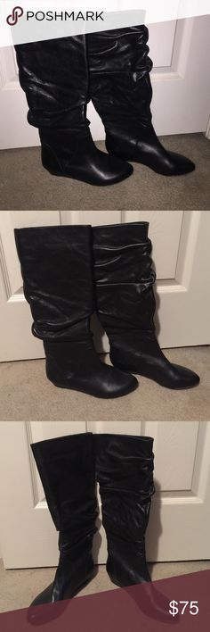 Gianni Bini, black boots Brand new, never been worn, solid black, to the knee, boots Gianni Bini Shoes