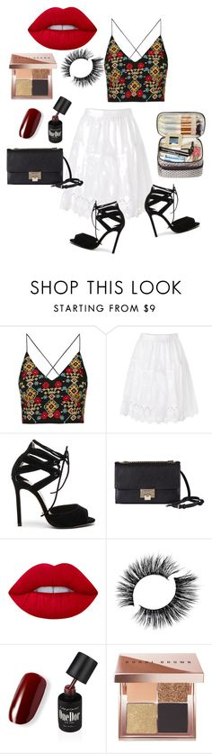 """Untitled #87"" by noa-antebi-pinto on Polyvore featuring Topshop, Diane Von Furstenberg, Tony Bianco, Jimmy Choo, Lime Crime and Bobbi Brown Cosmetics"