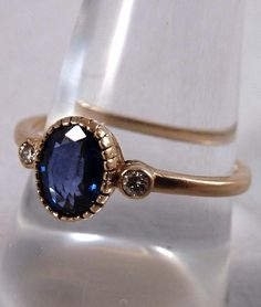 Vintage Victorian Sapphire and Diamond Ring