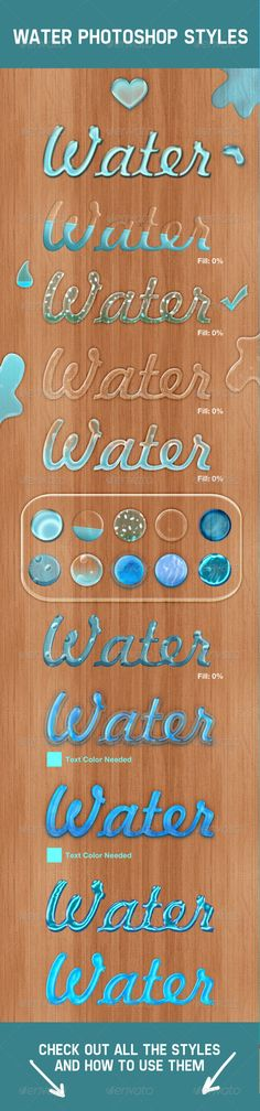 Water Photoshop Layer Styles