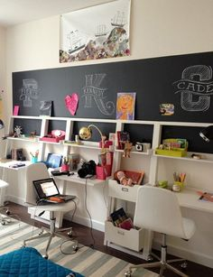 Study Room Design Tips for Kids Kids Study Room Chalkboards