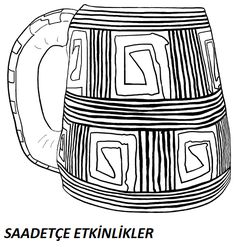 MÜZELER HAFTASI Preschool, Coloring, Mugs, Food, Cups, Kid Garden, Mug, Essen, Nursery Rhymes