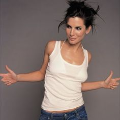 Sandra Bullock - one of the rare celebrities I would actually like to hang out with, she just seems real