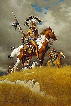 Native Americans are subjects for artists Howard Terpning, James Bama, Bev Doolittle, John Buxton and others. Native American Paintings, Native American Pictures, Native American Artists, Native American Warrior, Native American Beauty, American Indian Art, American Indians, Indian Artwork, Indian Paintings