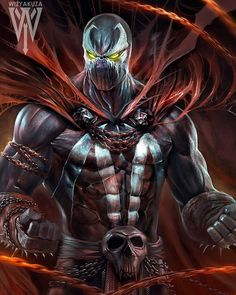 Sick Ass Spawn! From IG    Before I liked Batman as my favorite, there was Spawn...... #Spawn #Comics