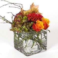 Flower Arangement in Glass Vase