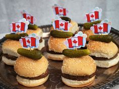 Burger sliders with a bit of Canadian cheddar are a great party snack for appetites of all sizes on Canada Day