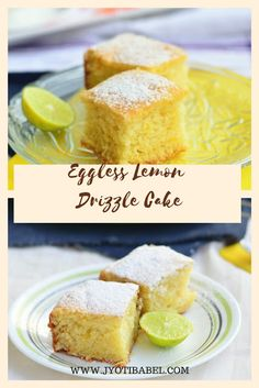 It is perhaps the best Eggless Lemon Drizzle Cake recipe. Eggless Lemon Cake, Lemon Tea Cake, Eggless Desserts, Lemon Drizzle Cake, Eggless Recipes, Eggless Baking, Lemon Recipes, Baking Recipes, Cake Recipes