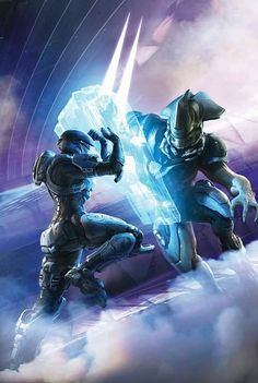Cover for Halo Escalation series from Dark Horse Comics. Halo 5, Halo Game, Odst Halo, Science Fiction, Cyberpunk, Halo Armor, Halo Reach Armor, Halo Spartan, Halo Master Chief