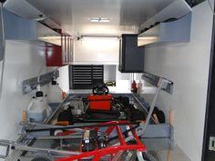 Karting, Go Kart Frame, Go Kart Racing, Trailer Organization, Trailer Interior, Trailers, Audi, Cart, Frames