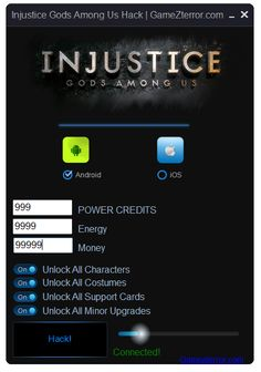 Injustice Gods Among Us Hack iOS / Android http://gamezterror.com/injustice-gods-among-us-hack-ios-android/