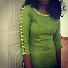 Looking for latest sleeve designs to try with your kurtis and kurthas? Here are 15 chic designs that will look totally chic on your dress. Full Sleeves Design, Kurti Sleeves Design, Kurta Neck Design, Sleeves Designs For Dresses, Dress Neck Designs, Fancy Blouse Designs, Neck Designs For Suits, Sleeve Designs For Kurtis, Chudi Neck Designs