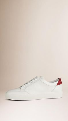 Cherry Leather Sneakers - Image 1