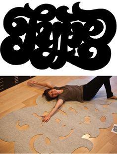 DIY TYPE Rug #typography