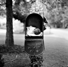 cutie, new arrival #baby I'd love this is the mailbox from my grandparents house. It was in our family for years.