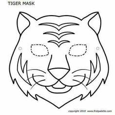 Animal Mask Templates, Printable Animal Masks, Animal Masks For Kids, Mask For Kids, Safari Theme, Jungle Theme, Tiger Mask, Lion Mask, Animal Cutouts