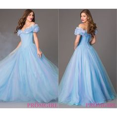 Now You Can Literally Have a Cinderella Moment at Prom ❤ liked on Polyvore featuring dresses