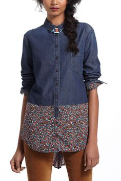 Shop the Flora-Spliced Chambray Buttondown and more Anthropologie at Anthropologie today. Read customer reviews, discover product details and more.