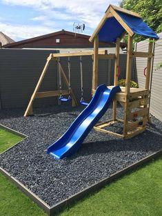 Kids Backyard Playground, Backyard Swing Sets, Backyard Playset, Backyard Playhouse, Backyard For Kids, Backyard Projects, Outdoor Projects, Outdoor Playset, Kids Outdoor Play