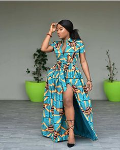 we have found the best 34 traditional African fashion for Ankara styles that attract a beauty. African fashion is one of the foremost bewildering sights to grace the corners of our planet. African Maxi Dresses, African Fashion Ankara, Latest African Fashion Dresses, African Dresses For Women, African Print Fashion, Africa Fashion, African Attire, African Wear, Ankara Dress