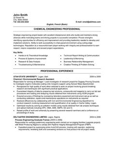 click here to download this chemical engineer resume template httpwww - Architectural Engineer Sample Resume
