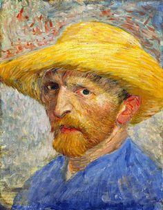 Autoritratto con cappello di paglia - 1887