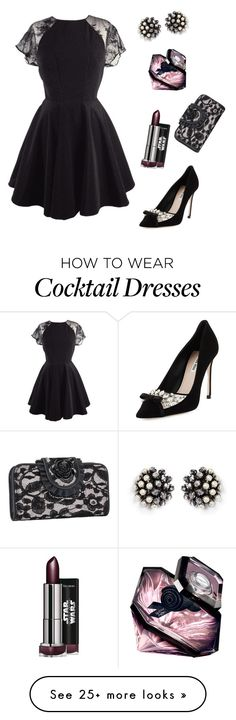"""""""Fashion Cocktail Dress"""" by aerin-wen on Polyvore featuring Rock Rebel, Miu Miu, Miriam Haskell and Lancôme"""
