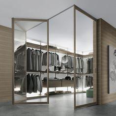 RIMADESIO Siparium design glazen vouwdeuren op maat gemaakt. Exclusief Italiaans design voor de moderne particuliere of zakelijke binnenruimte
