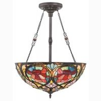Shop for Quoizel Larissa Vintage Bronze Pendant. Get free delivery On EVERYTHING* Overstock - Your Online Ceiling Lighting Store! 3 Light Pendant, Bronze Pendant, Hanging Light Fixtures, Hanging Lights, Tiffany Ceiling Lights, Tiffany Stained Glass, Tiffany Glass, Art Nouveau Pattern, Vintage Pendant Lighting