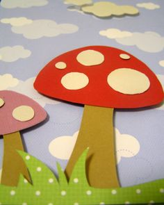 toadstool twins custom 3-D paper cut