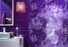 Purple Interior finishes in gres CIELO by FAP CERAMICHE @Fap Ceramiche
