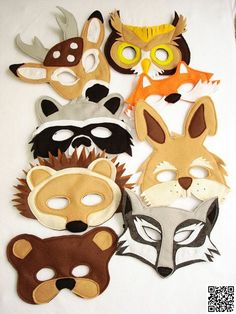 5. #Animal Felt Masks - 38 #Super Cute Felt Animals You Can Make ... → DIY #Plushies