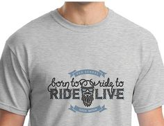 Funny Biker Motorcycle Biker Gift Born to Ride T-shirt Sizes Small to 5XL Plus
